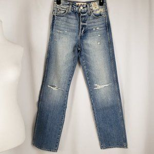 AMO Layla Charmer Destroyed Straight Leg Jeans 24